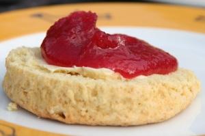 Apple jam scone small